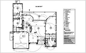 electrical plan plan with electrical legend dwg file