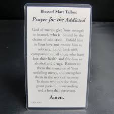 prayer for the addicted blessed prayer card lucky new products
