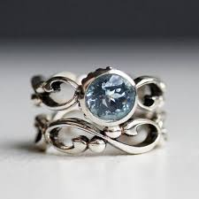 antique aquamarine engagement rings 27 most stunning aquamarine rings from etsy