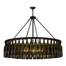Wine Bottle Light Fixtures 152072 Wine Bottle Chandelier Meyda Wine Country Accents