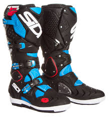 blue motocross boots sidi mx boots crossfire 2 srs light blue black 2017 maciag offroad
