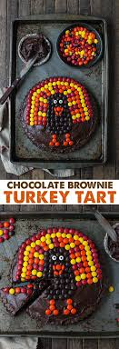 chocolate brownie turkey tart the year