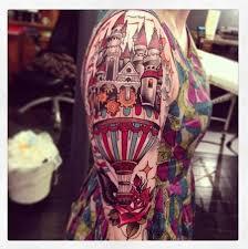 castle parachute tattoo on right sleeve u2013 site title