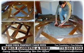 how to and install a large custom hardwood flooring medallion