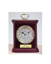 anniversary engraving engraved wood desk clock carriage gold handle with gold engraving plat