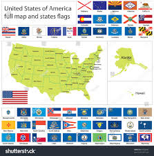 Kentucky Flags United States America States Flags Collection Stock Vector