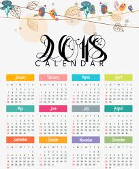 Calendar 2018 Ai Template 2018 Calendar Png Vectors Psd And Icons For Free Pngtree