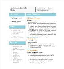 Sample Resume Of Accountant by Best Resume Formats 47 Free Samples Examples Format Free