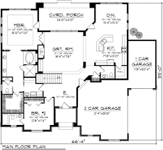 Four Car Garage House Plans by Ranch Style House Plan 2 Beds 2 50 Baths 2081 Sq Ft Plan 70 1117
