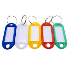 key id label name tags colorful split ring car door keyring