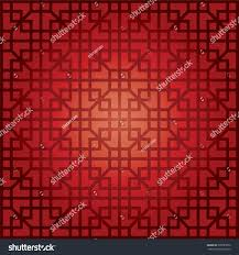 chinese pattern chinese new year design stock vector 308785676