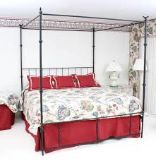 Iron Canopy Bed Frame Wrought Metal Canopy Bed Frame Ebth