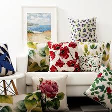 déco coussin canapé pays décoration coloré vert bleu vintage floral décoratif