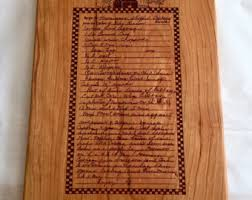 cutting board with recipe engraved recipe board etsy