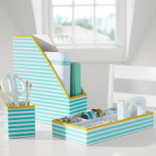 Blue Desk Accessories Printed Stripe Desk Accessories Decor By Color
