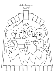 free bible coloring page shadrach meshach and abednego