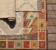 Recycled Plastic Rug Gianna Recycled Yarn Kilim Indoor Outdoor Rug Warm Multi