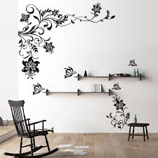 ideas of the best wall vinyl decals home decor and furniture image of flower wall decals vinyl art stickers living room mural decor wall regarding wall