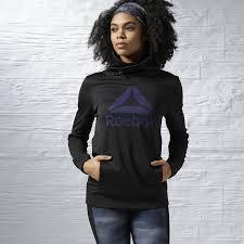 reebok reebok womens clothing hoodies u0026 sweatshirts low price 100