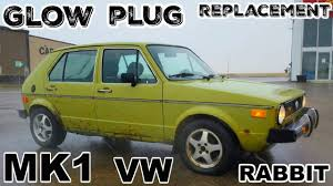 volkswagen rabbit glow plug replacement mk1 volkswagen rabbit youtube