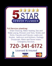 5 star plumbing plumbing 6401 broadway denver co phone