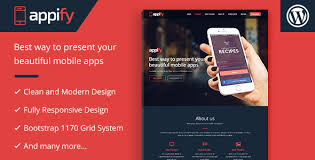 appify one page mobile app landing page wordpress theme themesnap