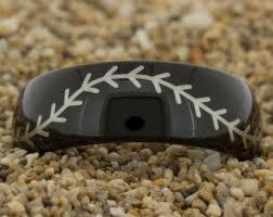 Baseball Wedding Ring by Baseball Stitch Ring Etsy