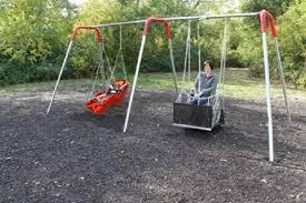handicap swing bay ada compliant wheelchair swing set with swings