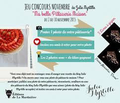 jeux de recette de cuisine jeu concours novembre julie myrtille ma pâtisserie maison