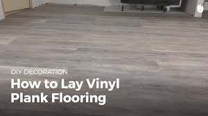 how to lay vinyl flooring diy projects youtube