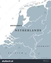 netherlands political map capital amsterdam holland stock vector