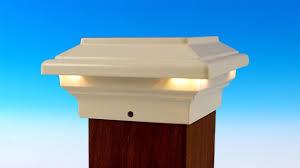 Solar Powered Post Cap Lights by Neptune Led Post Cap Light By Aurora Deck Lighting Youtube