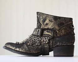 womens boots distressed leather leather boho boots ankle boots bohemian distressed leather