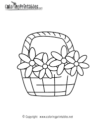 flower basket coloring pages for kids at omeletta me