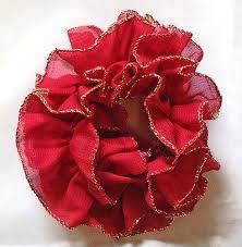 hair scrunchies hair scrunchies ruffled with gold trim pink burgundy purple navy