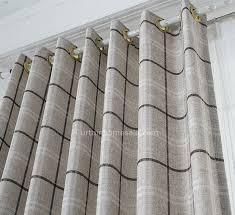 Grey Plaid Curtains Fabulous Grey Plaid Curtains Decor With Plaid Room Darkening Gray