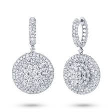 white earrings 7 43ct 18k white gold diamond pave earring sc37214351 bova diamonds