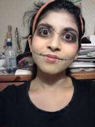 Halloween Makeup Stitches Diy Stitches Makeup Images