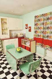 curtains 50s kitchen awesome retro kitchen curtains 50s kitchen