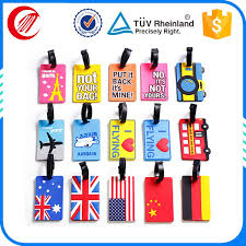 travel tags images High quality soft pvc travel bag tags oem shaped airport luggage jpg
