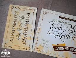 wedding invitations belfast vintage ticket wedding invites wedfest