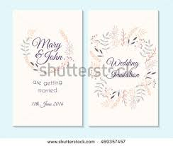 wedding invitation thank you card save stock vector 469357457