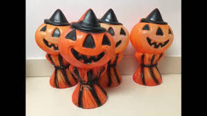 Vintage Halloween Decor Vintage Halloween Blow Mold Decorations Candy Pails Show And Tell