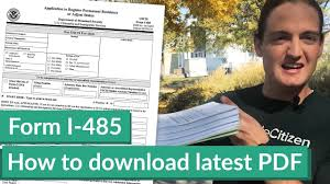 how to download the latest form i 485 pdf youtube