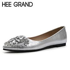 online get cheap women silver flat shoes aliexpress com alibaba
