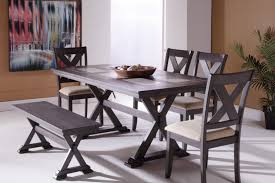 dining room table ls hh1279 collection solid wood dining table set 7 pc mattress