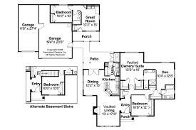single story house plans with granny flat home construct
