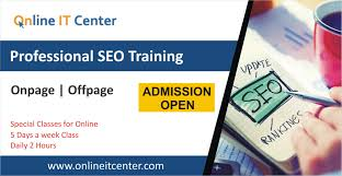 online seo class seo in islamabad online it center