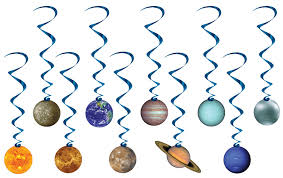 solar system whirls savers decorations