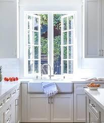 Kitchen Sink Curtain Ideas Kitchen Window Above Sink Curtains Large Windowsill Ideas